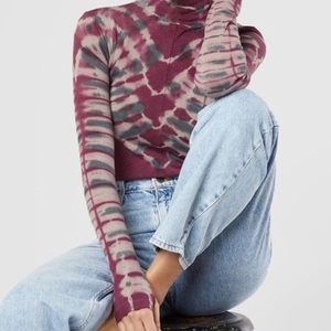 FREE PEOPLE tie dye turtleneck
